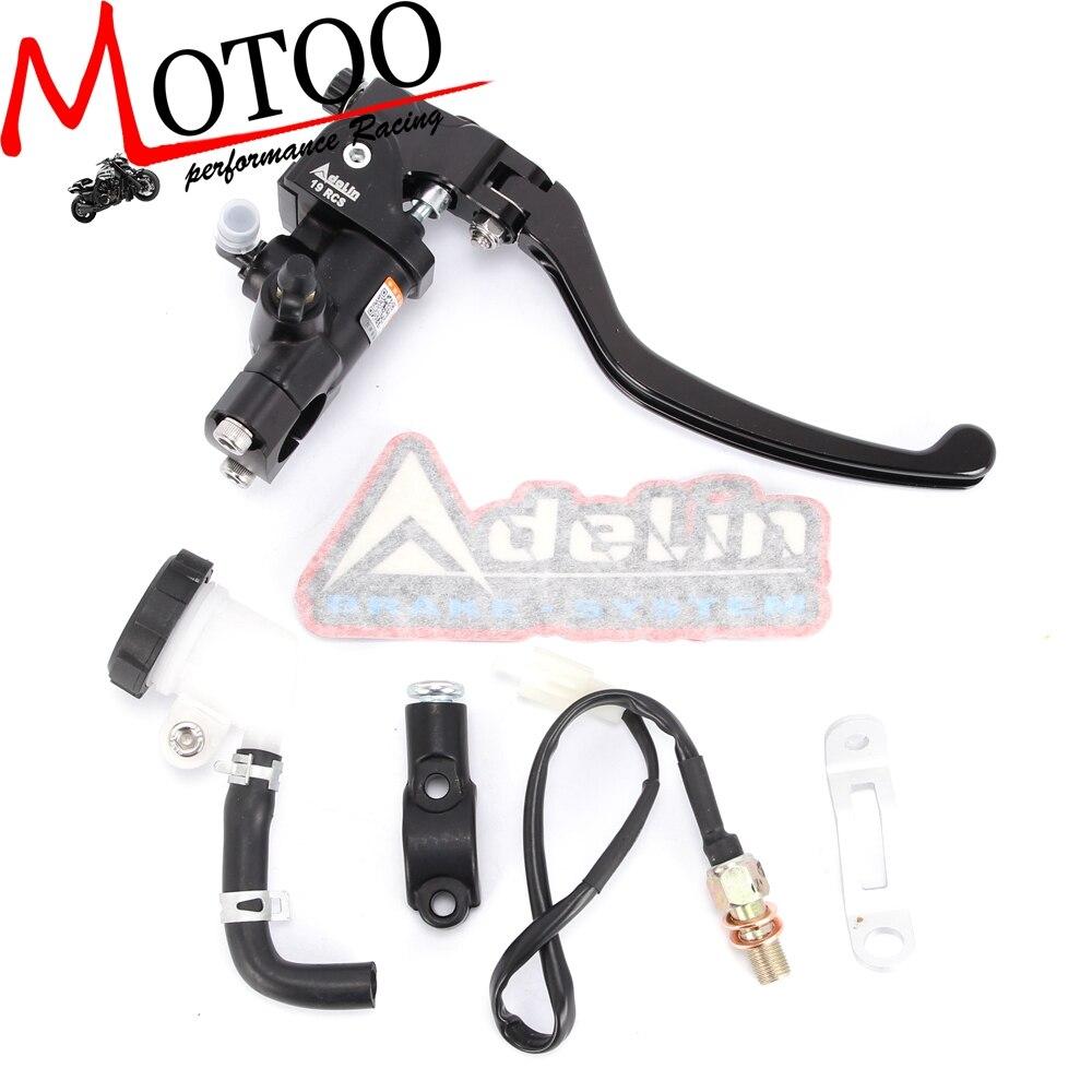 Моту-мотоцикл 19RCS тормоза Adelin главный цилиндр гидравлический для Honda R1 R3 R6 FZ6 GSXR600 750 1000 NINJA250 ZX-6R Z750 Z800