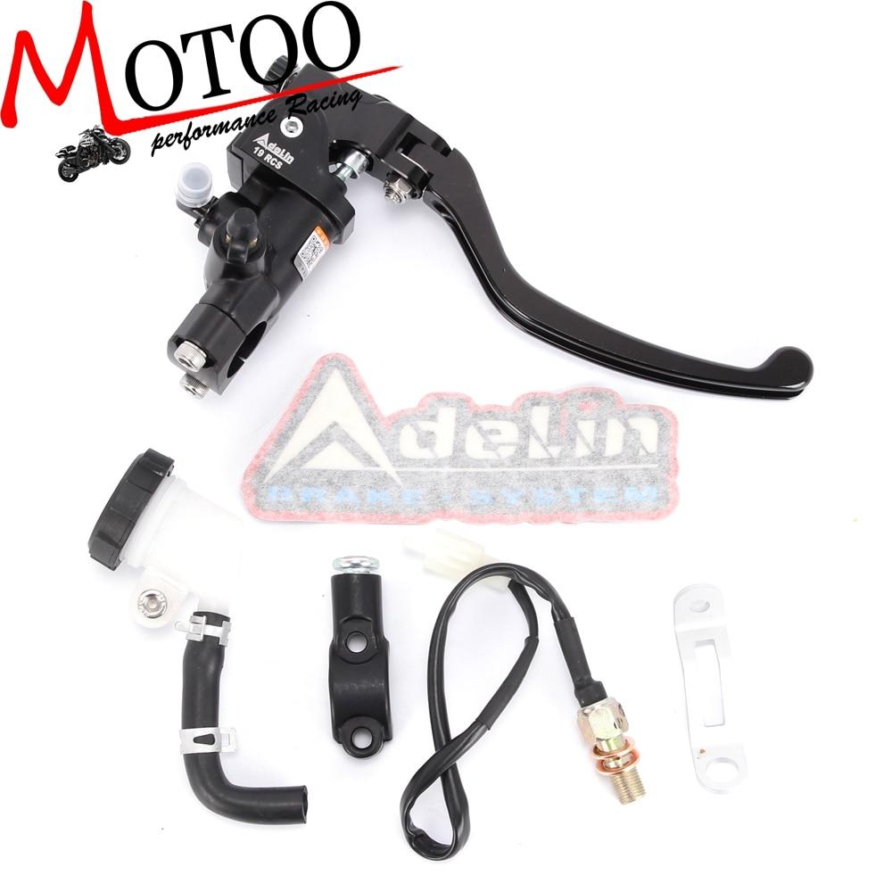 Motoo-Moto 19RCS Adelin Cilindro Idraulico Freno PER HONDA R1 R3 R6 FZ6 GSXR600 750 1000 NINJA250 ZX-6R Z750 Z800