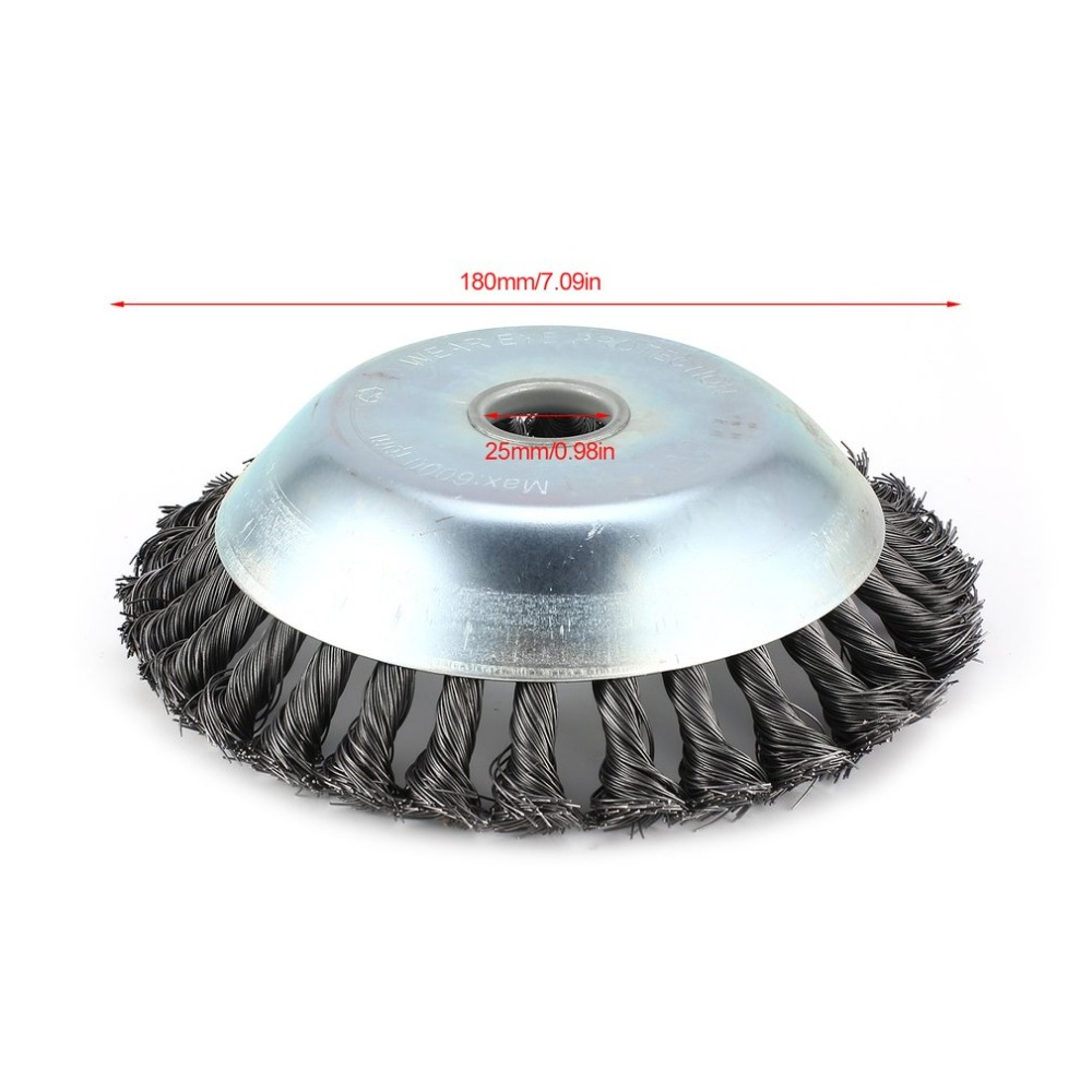 1 Pcs Rotary Weed Brush High Carbon Steel Flat Wire Wheel Brush ...