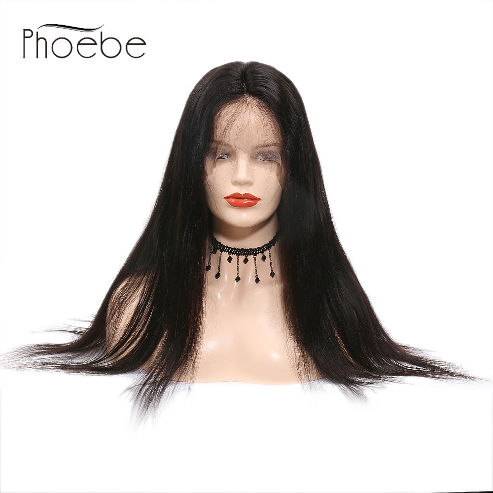 Phoebe 13x4 Lace Frontal Human Hair Wigs Nature Color For Black Women Remy Peruvian Body Lace Frontal Wig With Baby Hair 100% Guarantee Lace Wigs