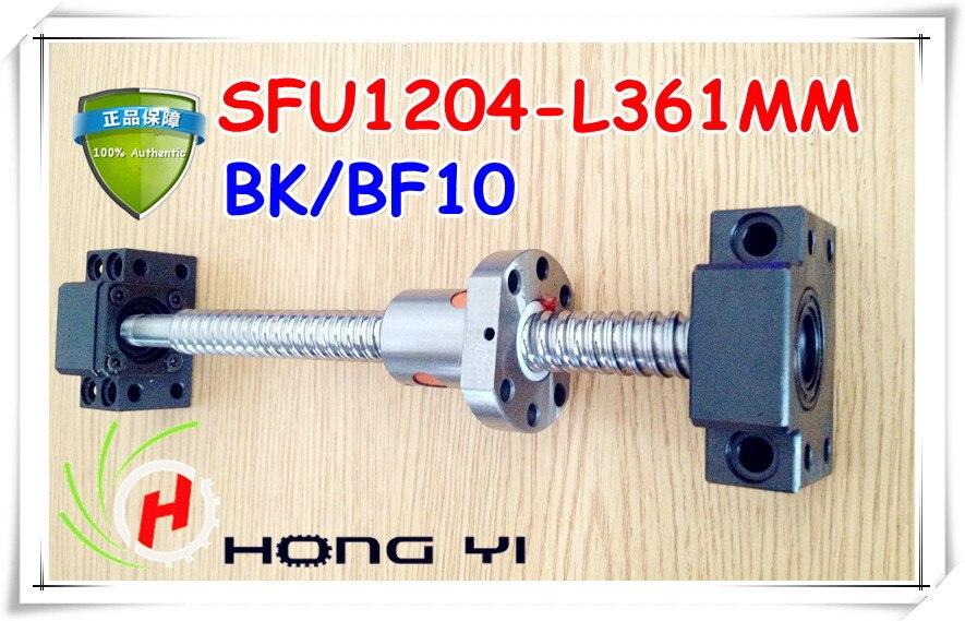 все цены на Free shipping 1204 Rolled Ballscrew set- 1pcs SFU1204 -L361mm +ballnut +end machining + BK10 BF10 Support онлайн