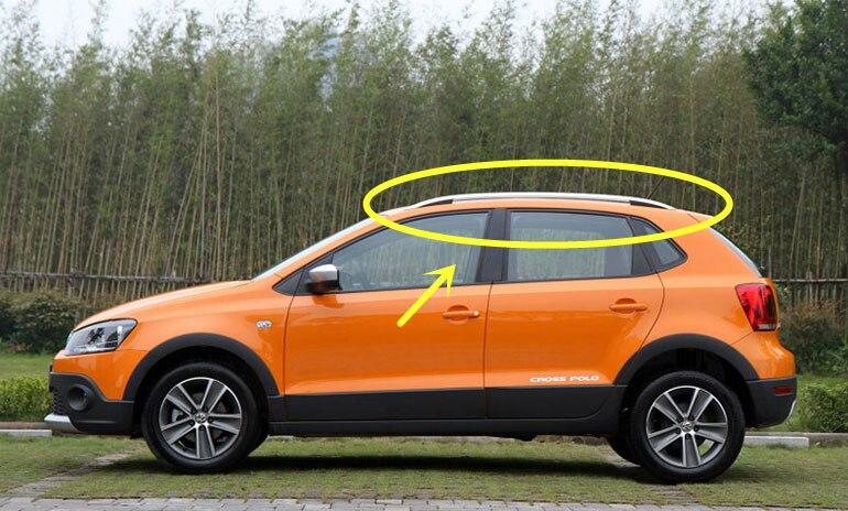 For VW POLO Cross 2006-2015 Roof Rack Rails Bar Luggage Carrier Bars top Racks Rail Boxes Aluminum alloy paste