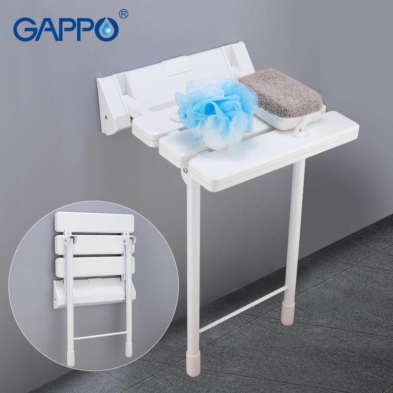 GAPPO Wall Mounted Shower Seats bathroom folding chair shower seat bench toilet chair bath shower stool folding bench