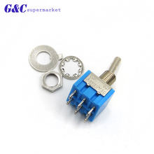 Deep Blue Mini 6 Pin 2 Position Toggle Switches ON-ON DPDT Mini Toggle Switch 6A/125V 3A/250V AC MTS-202