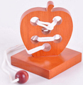 3D деревянный головоломки IQ логические строка пазлы игры игрушки для взрослых детей