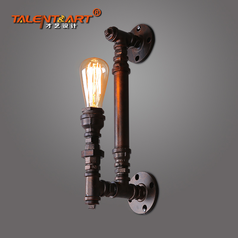 American Retro Loft Industry Water Pipe Personality Aisle Wall Lamp Restaurant Iron Wall Lamps Coffee Shop Light Free Shipping цена и фото