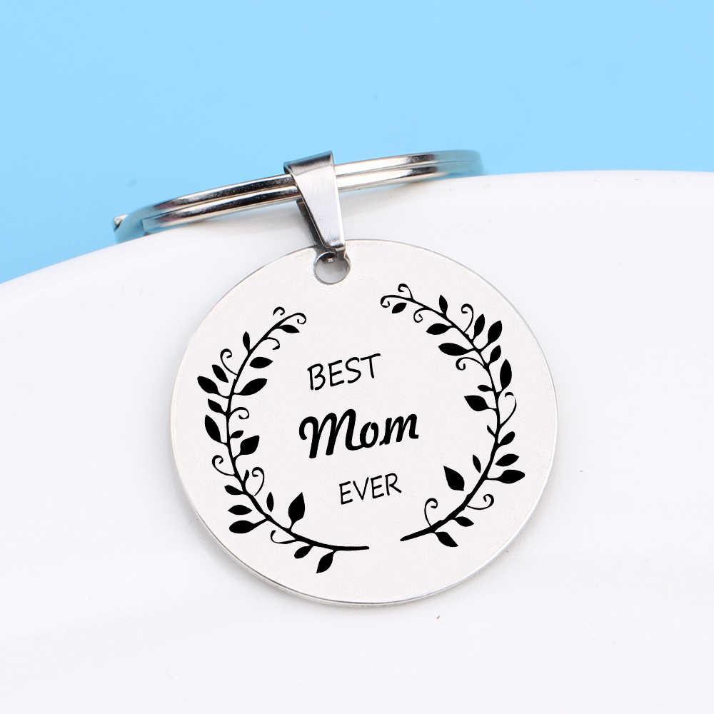 Выгравированная Лучшая Мама навсегда гирлянда брелоки подарки для мамы брелок для мамы подарок на день матери держатель ключей сумка очарование Экспрессия любовь
