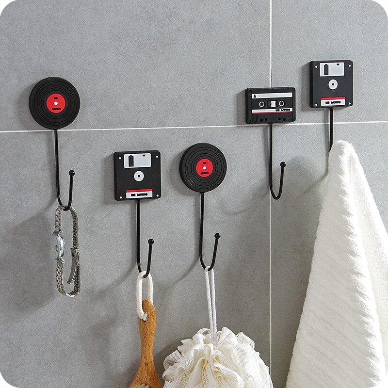 الرجعية جدار هوك شماعات جدار فولاذي مقاوم للصدأ ديكور السنانير الملابس معطف مفتاح شماعات الباب هوك رف تخزين للحمام