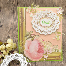 Leaves Flower Lace Oval Frame Metal Dies Cutting For Scrapbooking Paper Card Making Embossing Template Craft