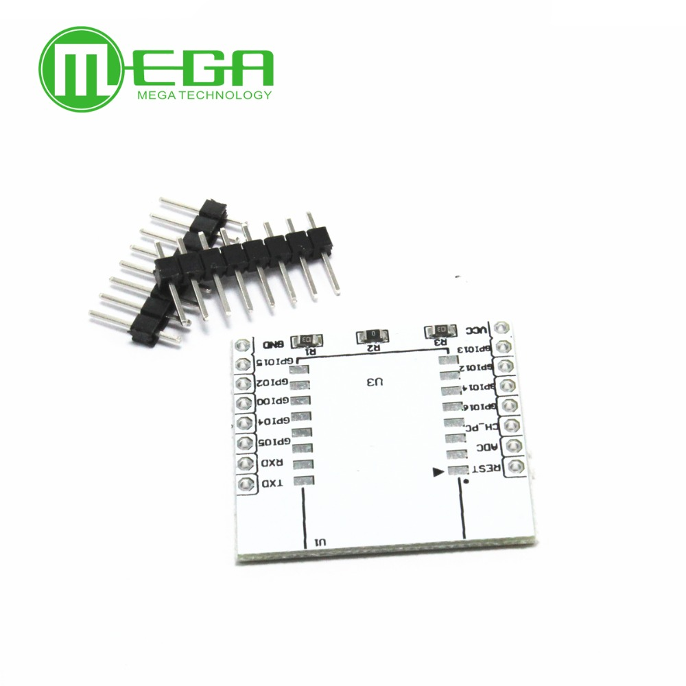 10pcs ESP8266 Serial WIFI Module Adapter Plate Applies To ESP-07, ESP-08, ESP-12