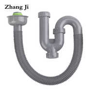 Zhang Ji New Design S Curve Deodorization Sink Drain Hose Bathroom Basin Insect Prevention Drain Pipe Unique Plumbing Hose