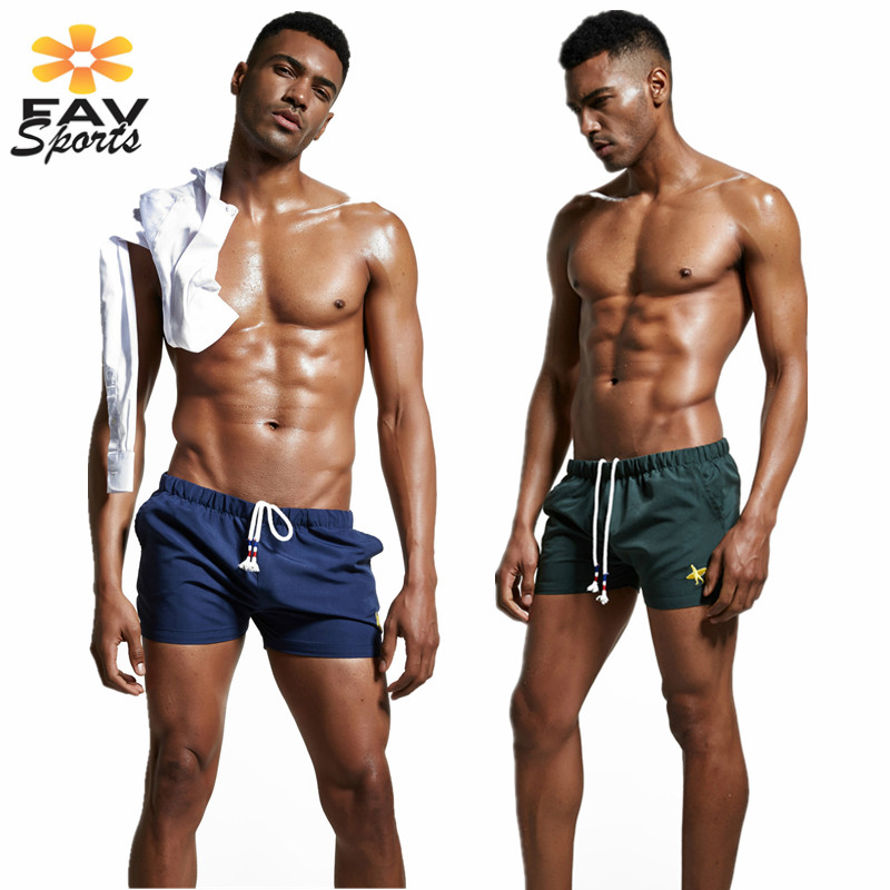 Swim Beach Pants For Men Surfing   Board     Shorts   Elastic Solid Bathingsuit Trunks Bermuda Running Sports Pants