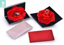 Engagement  Propose Ring Jewelry Box Marriage Wedding Ceremony Ring Box with Rose 2019 Fashion Romantic Creative