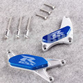 Blue Engine Protector Cover Slider Fit Suzuki GSXR 600 750 2004 2005 GSXR1000 2003 - 2008 Durable