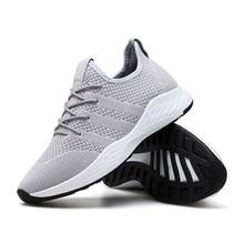 Весенние новые мужские туфли большого размера тренд летающие кроссовки мужские повседневные кроссовки мужские ботинки с сеткой chaussure homme