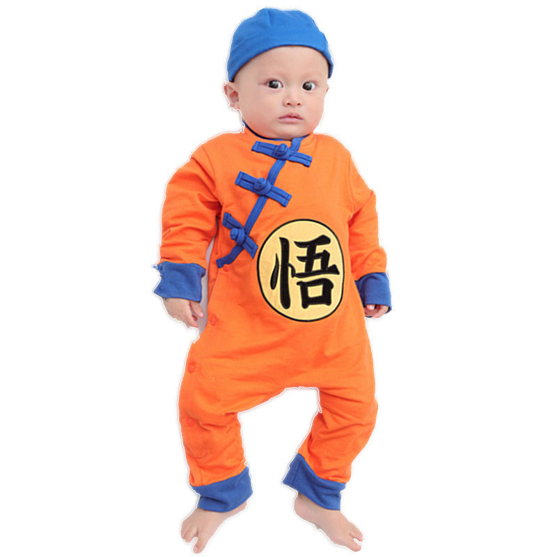 cefc7adc0002d Baby Boy Romper Autumn Winter Infant Goku Long Sleeves Toddler Jumpsuits  Newborn Baby Dragon Ball Anime Costume Clothing 0-24M
