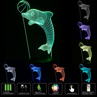 Optical Illusion 3D Dolphin Lighting Nightlight With A Soft Subtle Glow For Kids These Eco Friendly