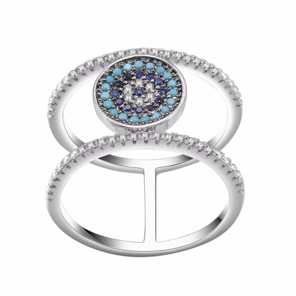 kivn fashion jewelry cz cubic zirconia turkish blue eye bridal wedding engagement rings for women girls birthday christmas gifts