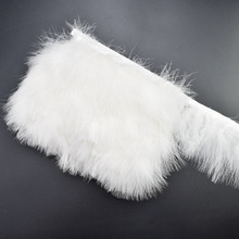 1Yards/lot White Fluffy Marabou Feathers Trims Fringe for Sewing Clothes Plumas 8-10cm Party Feather Crafts DIY Dress Decoration