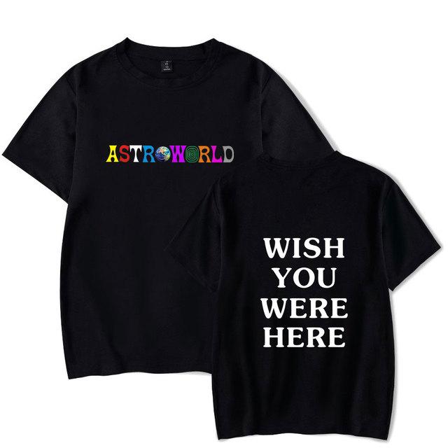 BTS Brand ASTROWORLD Print T-Shirts Men/Women Casual Cool O-Neck Men's T Shirt Summer Short Sleeve Hip Hop Clothing 4XL