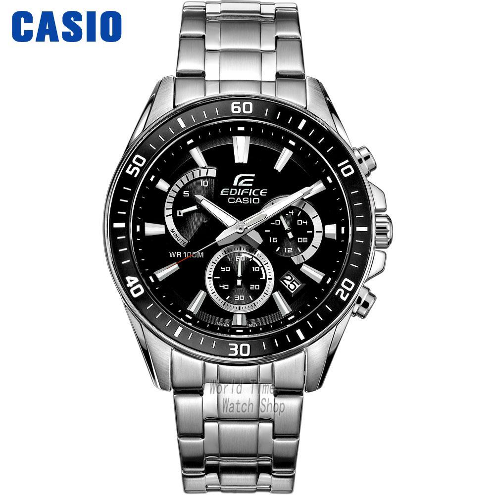 CASIO часы мужские | Модные деловые повседневные водонепроницаемые кварцевые мужские часы EFR 552D 1A EFR 552D 1A2 EFR 552GL 7A EFR 552L 2A