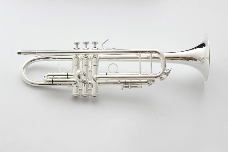 Bach AB 190S Латунь Bb труба высокого качества Посеребренные профессиональные музыкальные инструменты с футляром аксессуары