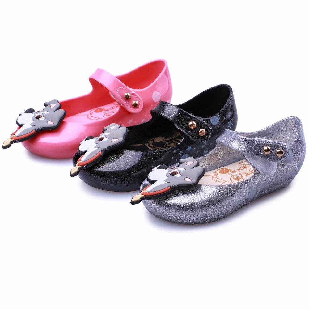 Mini Melissa Mini Lady And The Tramp Jelly Girls Sandals New Girls Sandals Children Shoes Shoes Jelly Baby Sandals