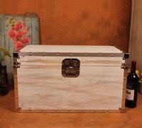 Творческий Деревянный костюм коробка для хранения одежды Чемодан случае украшения Винтаж бар мебели Подставки для фотографий окна Дисплей