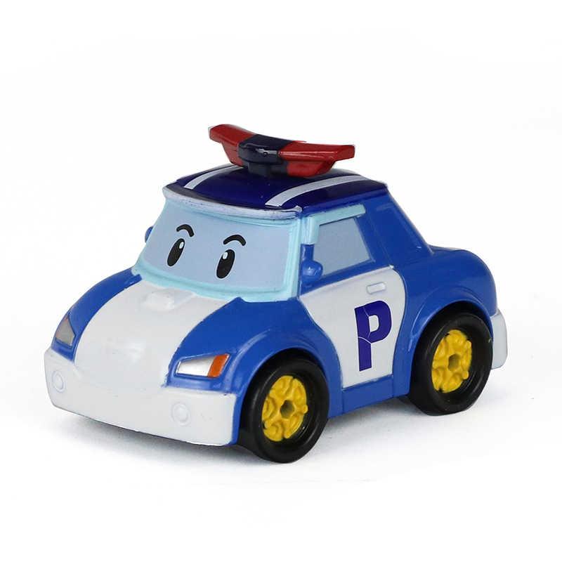 25 estilos Robocar Poli Corea Anime figura de acción de Metal modelo de coche juguetes Robot Poli Roy Toyota para los niños mejor regalo