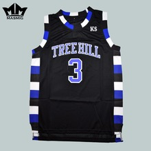 MM MASMIG One Tree Hill Lucas Scott 3 Ravens Basketball  Jersey Preto S para 3XL