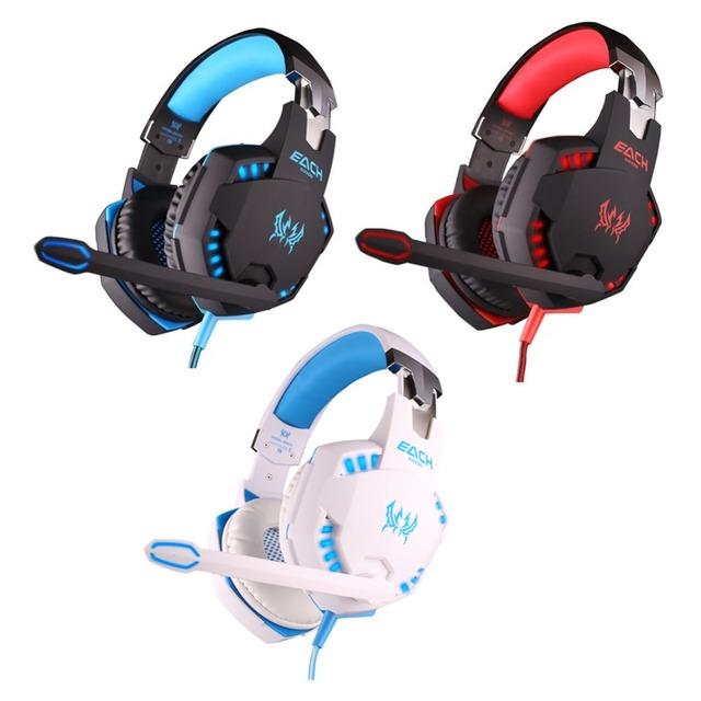 3 color CADA G2100 Función de Vibración Del Auricular Auricular con Micrófono Estéreo Bass Auriculares Gaming Led para PC Portátil de Alta calidad