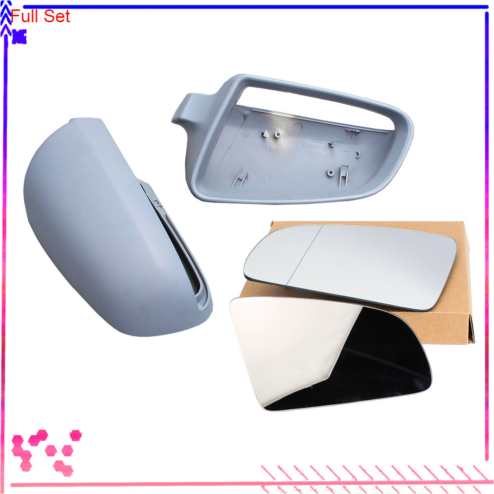 wide angle heated wing door mirror glass Left passenger side for Peugeot 208 12