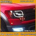 KOWELL автомобильный Стайлинг для Ford raptor F150 светодиодные фары 2008-2015 для F150 drl H7 hid Bi-Xenon объектив angel eye ближний свет