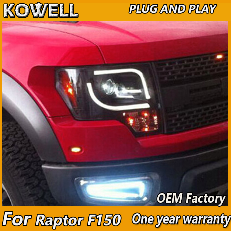 2008 Ford Raptor >> Us 584 0 20 Off Kowell Car Styling For Ford Raptor F150 Led Headlights 2008 2015 For F150 Drl H7 Hid Bi Xenon Lens Angel Eye Low Beam In Car Light