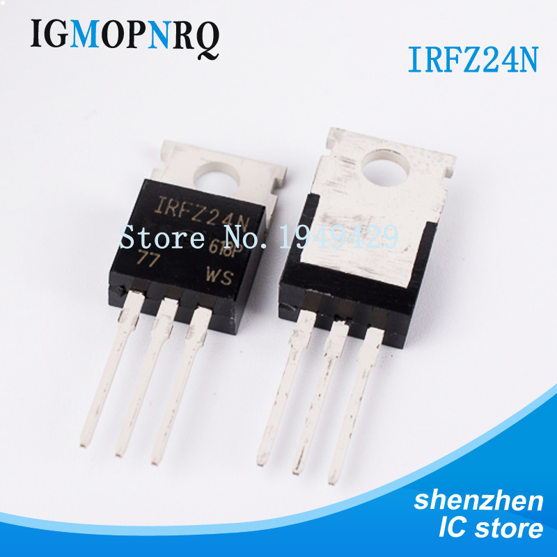 5pcs IRFZ24N IRFZ24 HEX Power MOSFET N-Channel 17A 55V