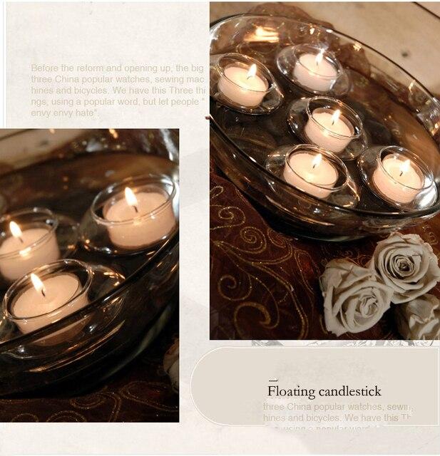 Beautiful Glass Bowl Candle Holder Floating Tealight Holder Wishing Pool Light Gift Home Xmas Wedding Centerpiece x 12