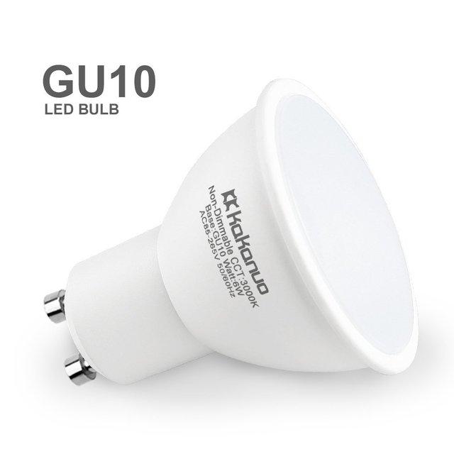 6 Pack Kakanuo Gu10 Led Bulb 50 Watt Halogen Light Equivalent Warm White 3000k 500lumens 120 Beam Angle Non Dimmable