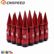 CNSPEED 20PCS Wheel Nuts Aluminum and Iron Extended Tuner M12x1.5 93MM Lug With Spike For Wheels Rims YC101152