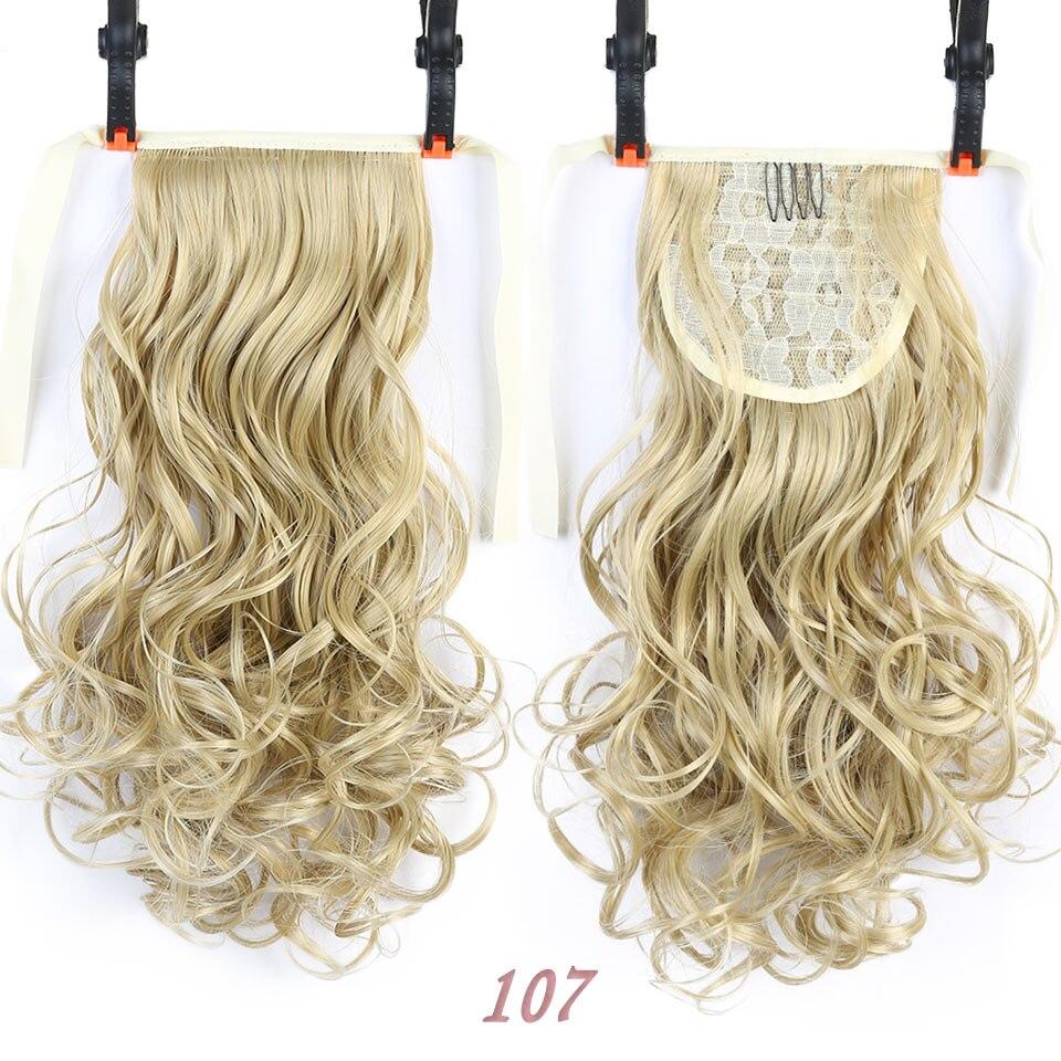 SHANGKE Short Clip Drawstring Curly Ponytail Hair Pieces - Syntetiskt hår - Foto 5