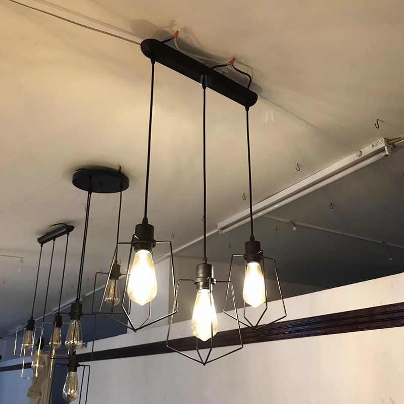 Скандинавский Ретро подвесные светильники Утюг абажур, Лофт лампа металлический каркасный подвесной светильник промышленные подвесные светильники E27 для бара Гостиная