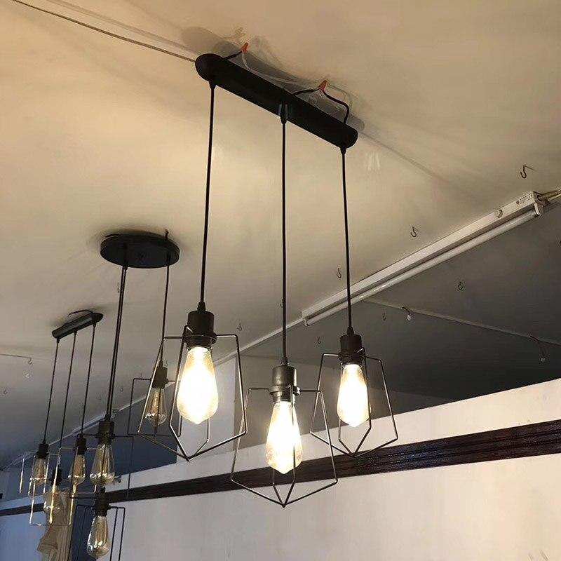 Nordic Retro Pendant Lights Iron Lampshade Loft Lamp Metal Cage Pendant Lamp Industrial Hanging Lights E27 For Bar Living RoomNordic Retro Pendant Lights Iron Lampshade Loft Lamp Metal Cage Pendant Lamp Industrial Hanging Lights E27 For Bar Living Room