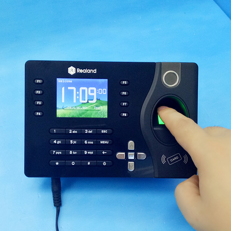 Free Software TCP/IP Biometric Fingerprint Attendance Time Clock with ID Card Reader+ USB Attendance Management System zk iface701 face and rfid card time attendance tcp ip linux system biometric facial door access controller system with battery
