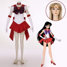 Athemis Anime Sailor Moon Hino Rei/Sailor Mars Super S Cosplay Costume Custom Made Any Size Dress