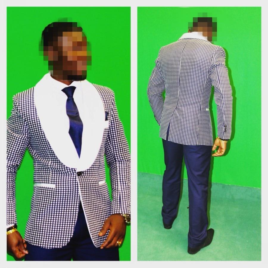 Uus moe Aafrika peigmehe tuxedose suurrätikuga pulmakleidid meestele - Meeste riided - Foto 3
