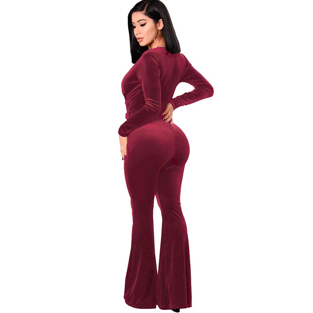 Bohoartist Autumn Jumpsuit 2018 New Sexy Full Length Slim Deep V Neck Sexy Ladies Jumpsuit Street Club Fashion Women Jumpsuits