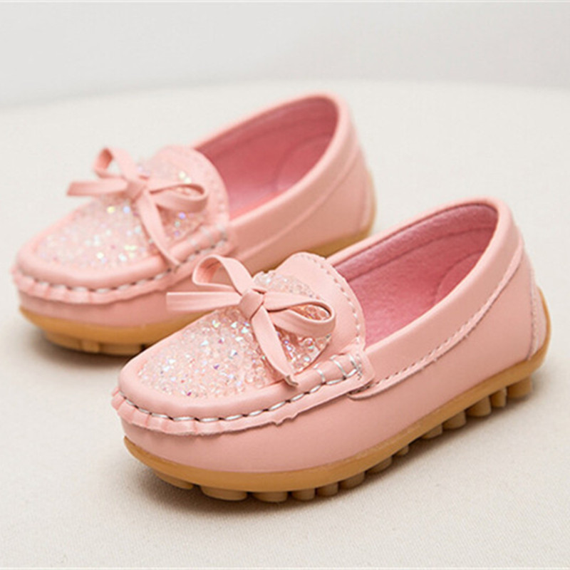 Newest Fashion Kids shoes all Size 21- 30 Children PU Leather Sneakers For Baby shoes Girls Boat Shoes Slip On Soft 3 color