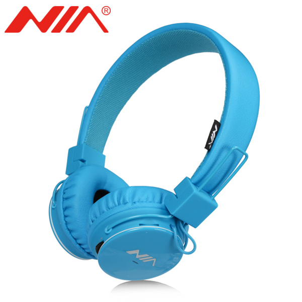 Stereo Headsets Original NIA 1682S Free Shipping Foldable Sport Headphones TF Card FM Radio Earphone economic set original nia q1 8 gb micro sd card a set bluetooth headphone wireless sport headsets foldable bluetooth earphone