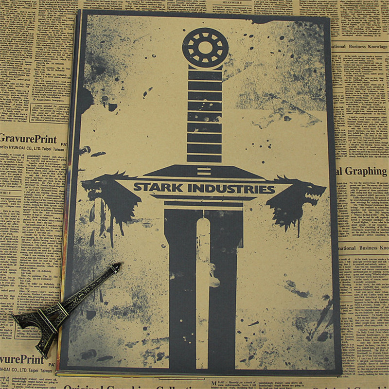 High quality retro Kraft vintage Movie Poster about game of thrones Wall Sticker Living Room Paint STAR WAR Bar Cafe HX-846