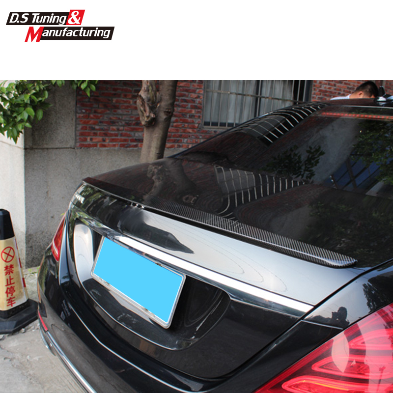 w222 New style cf spoiler rear trunk tail wings for Mercedes S class 2014-2015 S320 S400 S500 S600 benz model mercedes s class w221 2005 2013 amg style carbon fiber cf spoiler rear trunk wings tail lip for benz s320 s400 s420 s450 s600