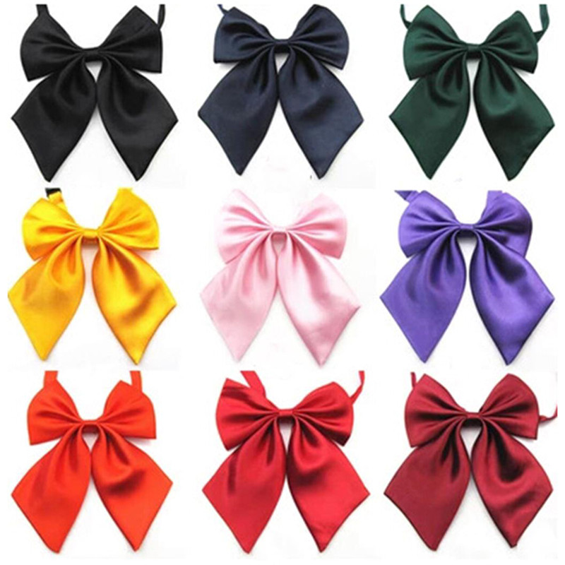 1Piece Women Tie Red Butterfly Girl Student Hotel Clerk Waitress Neck Wear Ribbon Ties Women's Bow Tie Black Knot Female